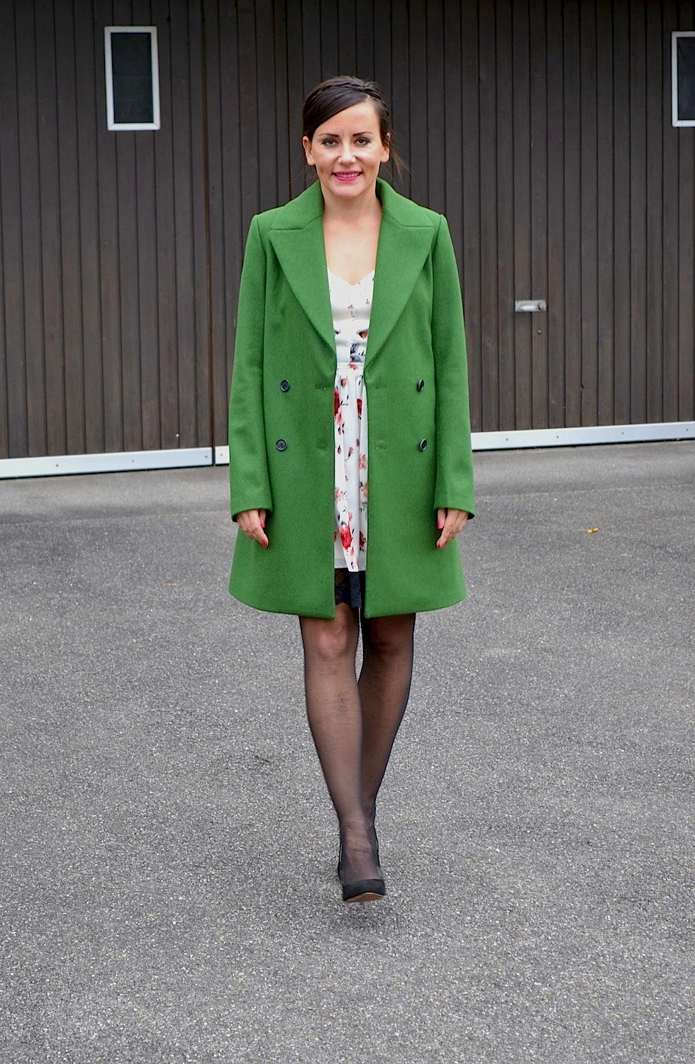 Silk And Dress Green Spotted Coat 0PO8nwk