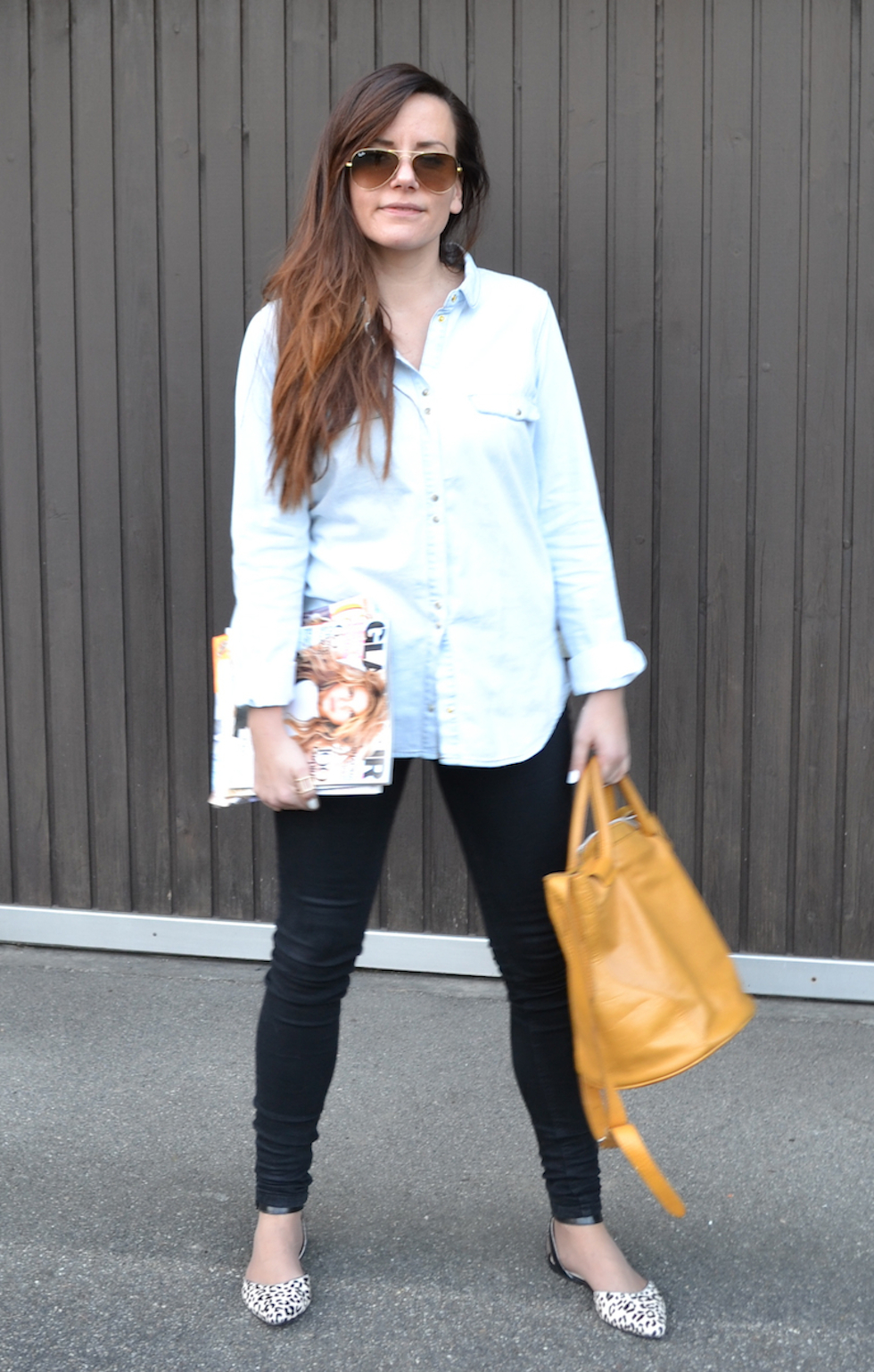 casual outfit mit jeanshemd, trend 2014, fashion blog schweiz