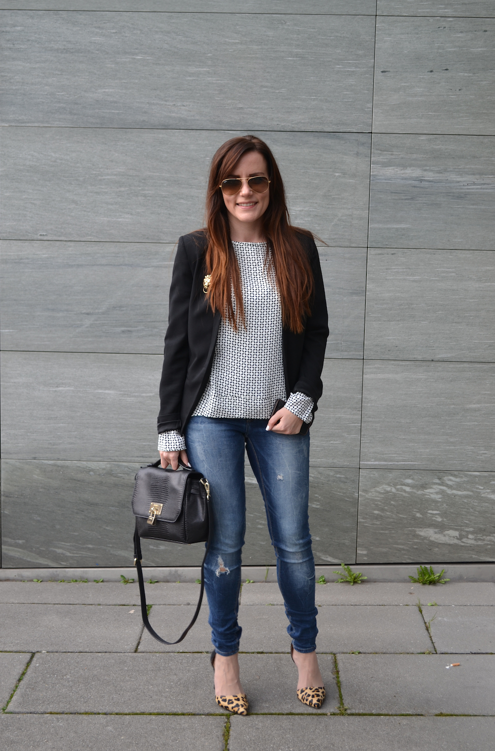 business casual outfit, rayban brille, mekivi fashion blog