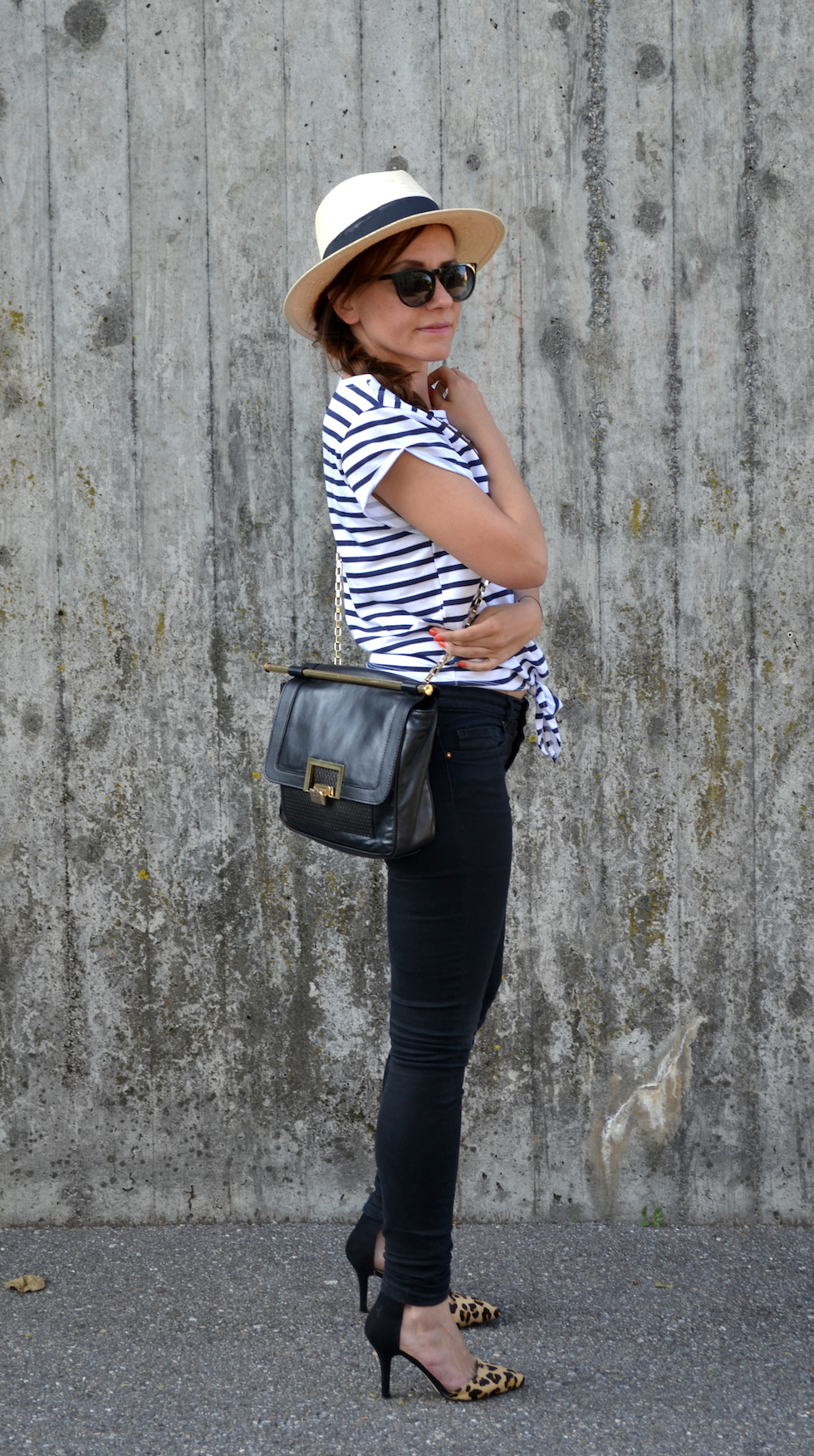 cropped top, striped cropped top, hat, fashionblog switzerland