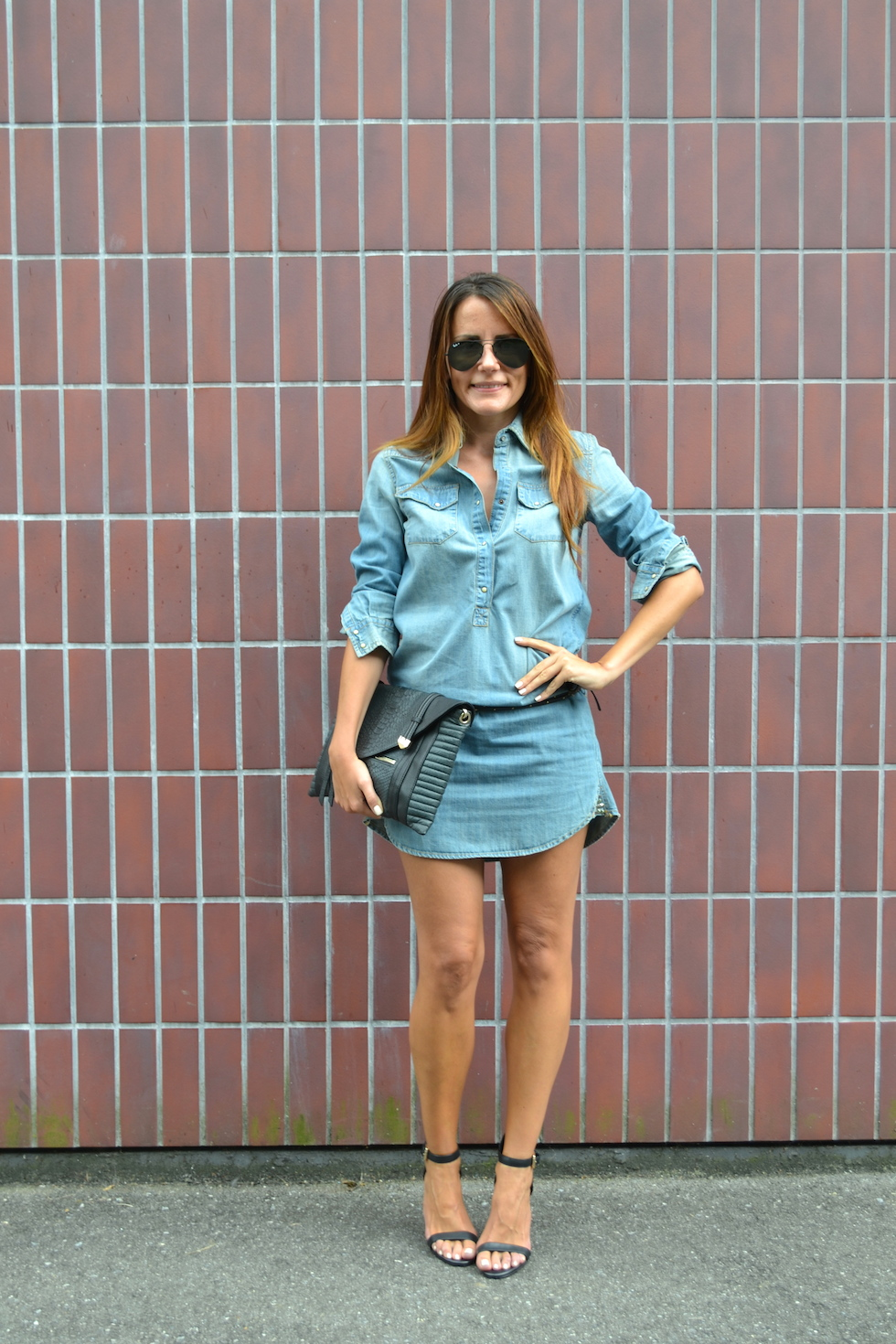 Denim dress Guess Los Angeles