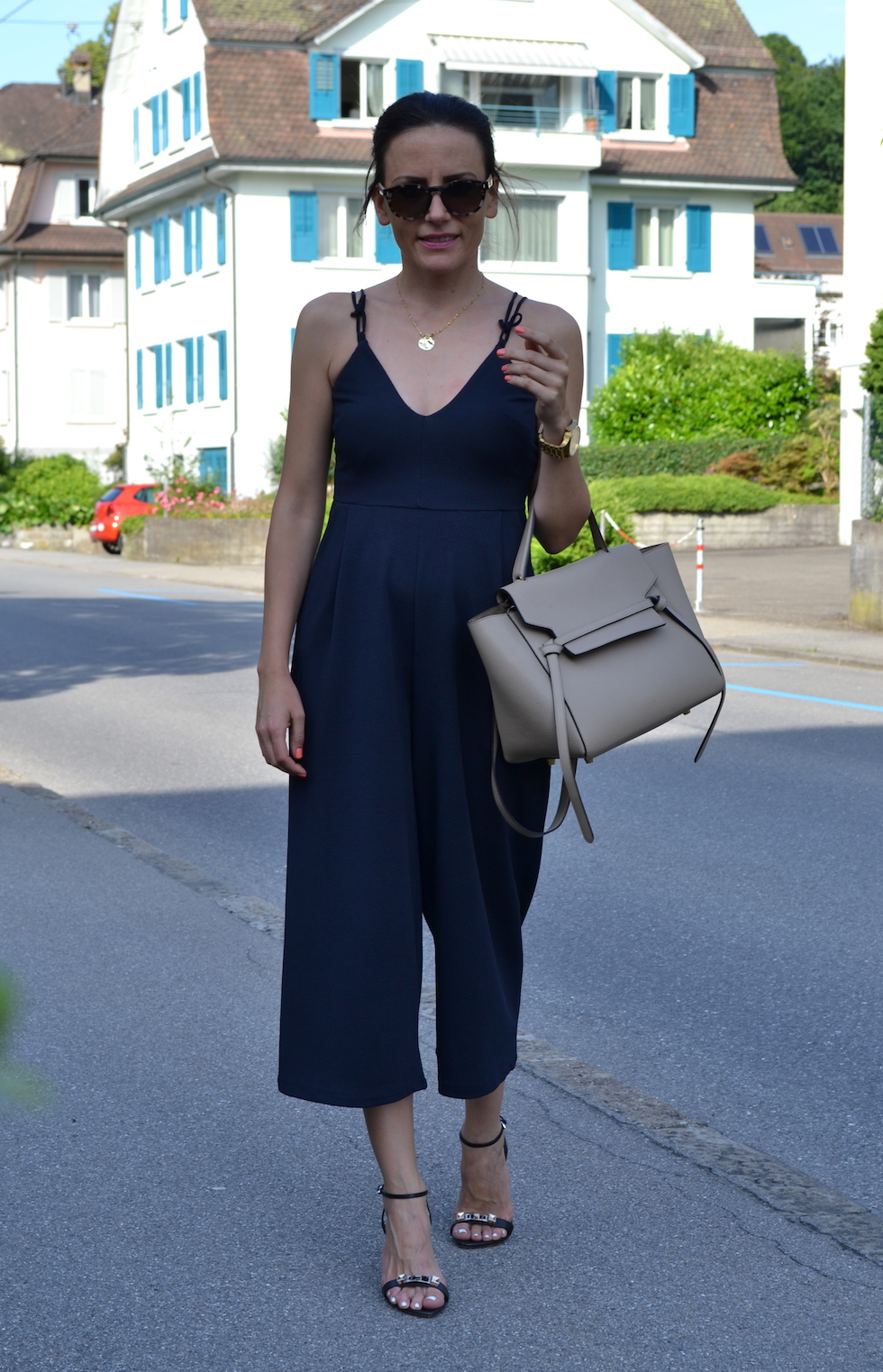 Culottes dark blue, how to wear culottes, wie man culottes trägt_5