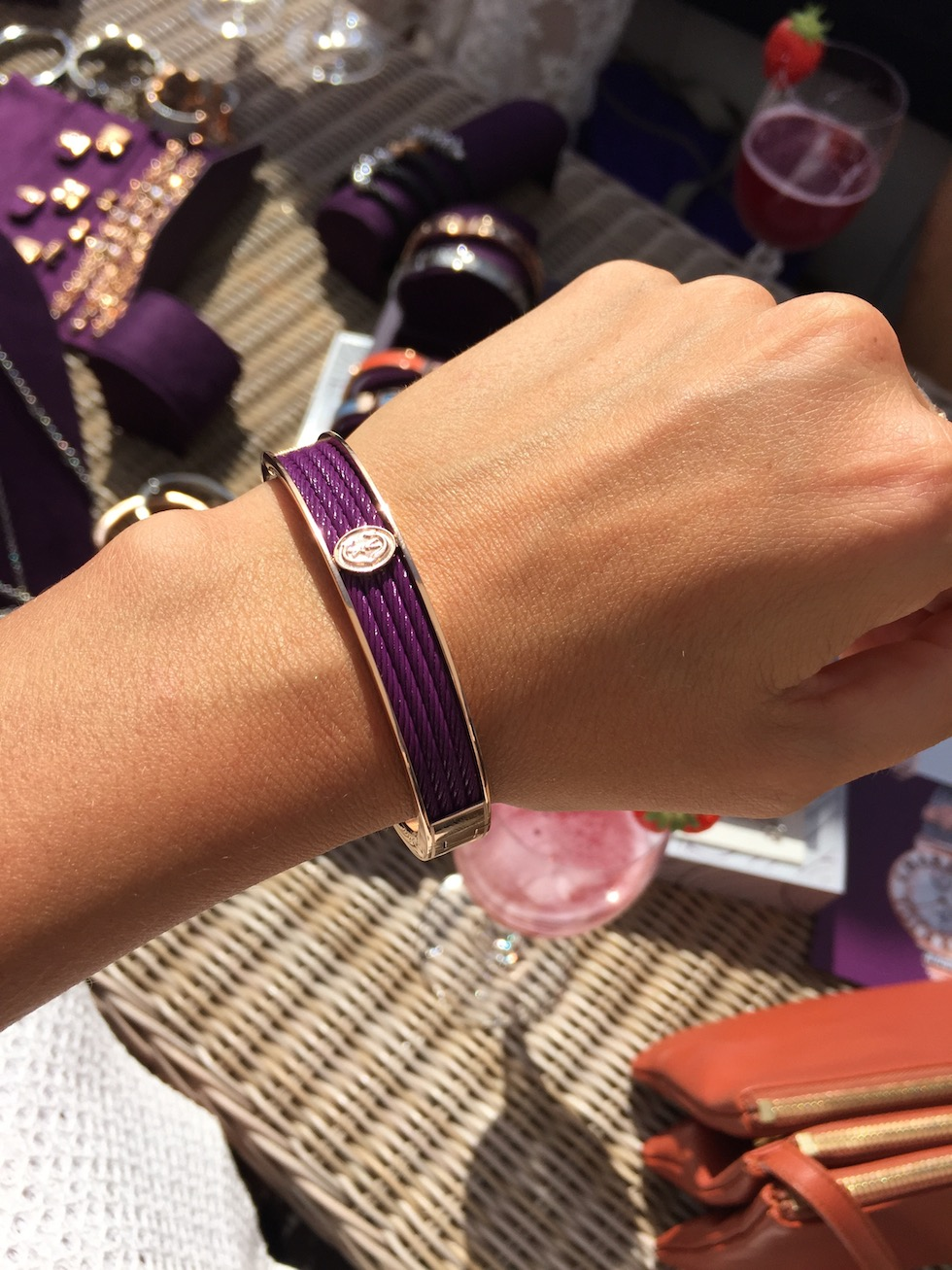 Cable Bangle Purple Charriol